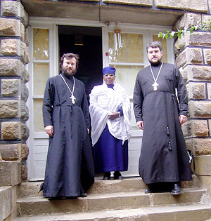 С настоятельницей монастыря Себата