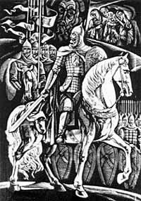 """В.Лопата. """"Князь Игорь"""". Гравюра на пластике. 1981 (www.yarmp.yar.ru)"""
