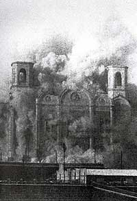 Разрушение храма Христа Спасителя. Фото: www.xxc.ru