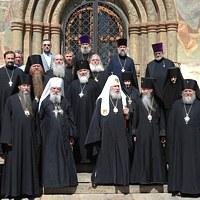 Патриаршая служба в Успенском соборе Московского Кремля
