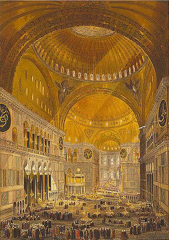 "Chevalier Gaspard Fossati, ""Aya Sofia Constantinople…"", 1852"