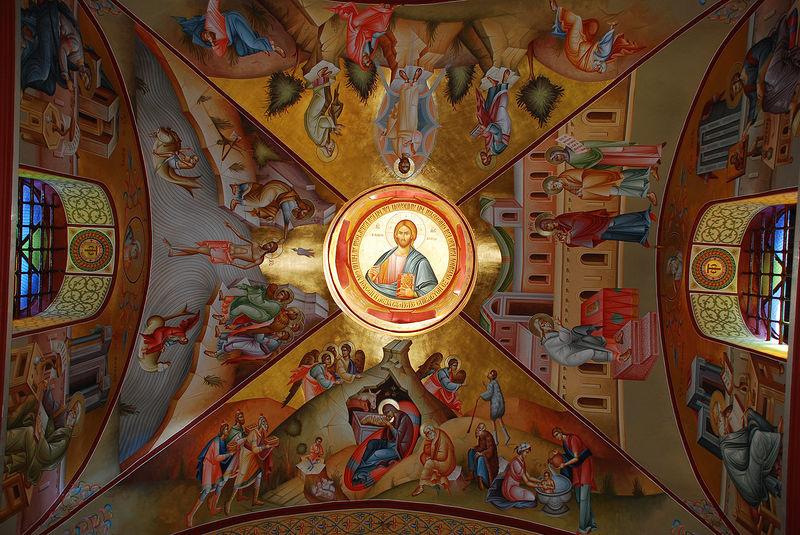 Греческий монастырь на горе Фавор. Роспись кафоликона. Фото: Антон Поспелов / Православие.Ru