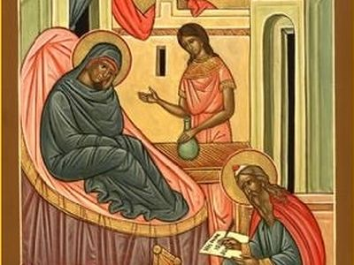 Being born exactly half a year before Christ, John the Forerunner by the exact time of his birth depicted his mission of preparing the way for the Lord. He was born at the time of the year (June 24) when the day begins to grow shorter after the summe