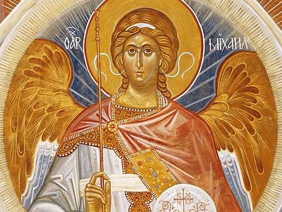 Angel in Greek means messenger. This word denotes mainly their relationship to man. They, as our elder brothers, reveal to us the will of God and assist us in reaching salvation. Man, from the beginning of his state in paradise, knew of the existence