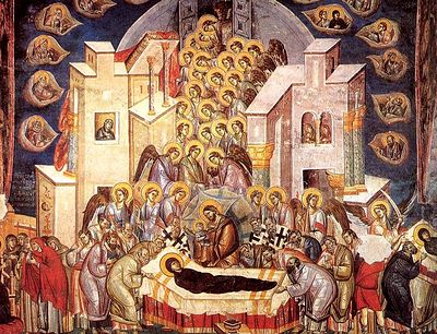 Today the Holy Church solemnly glorifies the honorable Dormition or translation of the Mother of God from earth to heaven. A wonderful translation - she died without serious illness, peacefully. Her soul is taken up in the divine hands of Her Son and