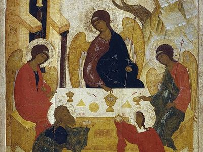 We are about to partake in the services for Holy Pentecost, as the Church celebrates the descent of the Holy Spirit on the Disciples. The Matins service is especially notable for Canon II, a monument of ecclesiastical poetry. We offer this commentary