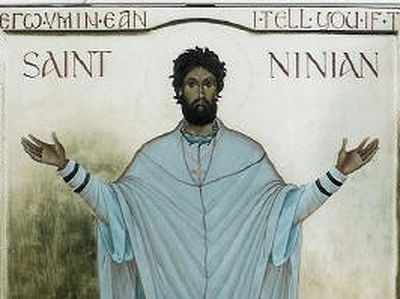 "The future saint was most probably born in the second half of the fourth century—perhaps in about 360. He belonged to the so-called ""Roman-British"" tradition of early British Christianity. His native land was most likely Cumbria; at least it is nearl"