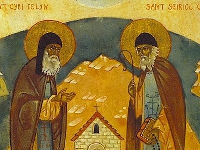 St. Seiriol is one of a great multitude of island saints who led a solitary life in tiny hermits' cells on small isles off the coasts of Wales, Scotland and Ireland. St. Cybi is along with St. Seiriol one of the most venerated saints in Anglesey.