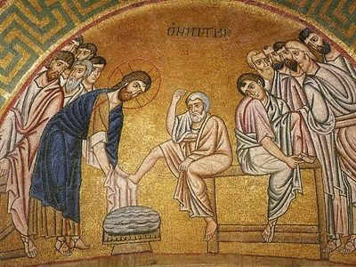 Today, brothers and sisters, on Great and Holy Thursday we remember the Last Supper, when our Lord Jesus Christ established the Sacrament of Holy Communion, and served the first Divine Eucharist, giving his disciples and apostles His Most Pure Body a