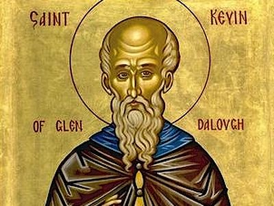 St. Kevin is one of the greatest saints of Ireland and founder of the famous and important Glendalough Monastery.