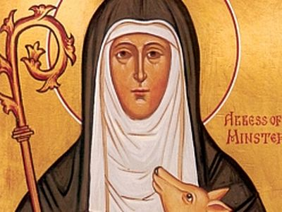 So we see three examples of holy women who were abbesses of Minster successively. All these nuns and those living after them were witnesses in quite difficult and unstable times, full of dangers and challenges, but in spite of everything they unceasi