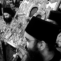 A procession of the cross at the Great Lavra Monastery of Mt. Athos (a photo gallery)