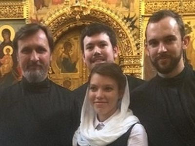 """As I listened to us all singing Divine Liturgy with Vladimir Gorbik, on the feast of All Saints of Moscow, at the Podvoriye of Trinity-Sergius Lavra, surrounded by the holy fathers and the faithful, standing at the kliros before the icon of the holy"