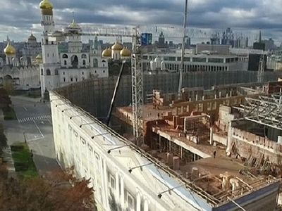 "The long awaited demolition of the Kremlin Presidium or ""Building 14"" began this week. The building was constructed in the 1930s, and up until 2011 the Soviet era building formerly housed the offices of the Presidium of the Supreme Soviet, the highes"