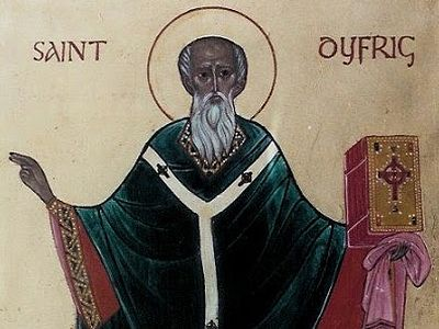 St. Dyfrig, also known by the Latin name of Dubricius, was one of the founders of Orthodox monasticism in Wales.