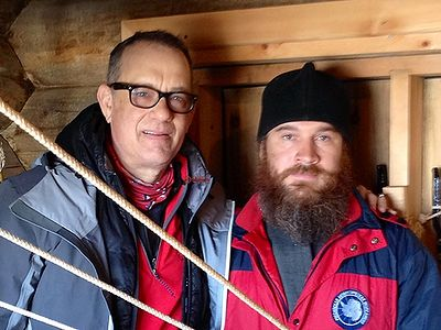 Famous actor Tom Hanks visited the Orthodox church of the Life-Giving Trinity in Antarctica at the Russian polar station �Bellingshausen� on Waterloo Island.