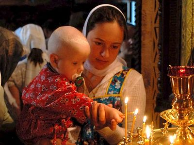 "Today there has been much discussion on the issue of women's equality. Some find a ""violation of women rights"" even in the Orthodox Church. Indeed, an Orthodox woman cannot become a priest (or ""priestess""), she cannot enter the altar, she submits to"