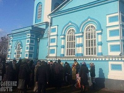 "The events in the Pticha village developed on March 30 after an unsuccessful attempt to block the Kiev–Chop international highway, made by representatives of the so-called ""Kyiv Patriarchate"". The attempt failed and as a result the schismatics locked"