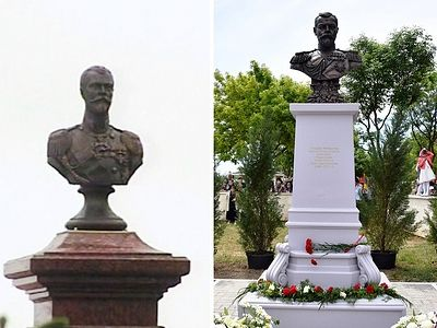 A bronze bust of the Tsar-Martyr was unveiled at the Transfiguration Cathedarl Tambov which the saint visited in 1914, and another in Yalta to commemorate the 100th anniversary of the emperor's final visit to Crimea.
