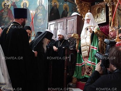 �Every time I�m on Mt. Athos it�s as if you�re touching the centuries-old podvig of people who devoted themselves to prayer, contemplation, and labor. Here this prayer is combined with the podvig of seclusion. I arrived here today with my companions,