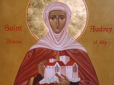 St. Etheldreda (Aethelthryth, Audrey) is the most venerated English female saint.