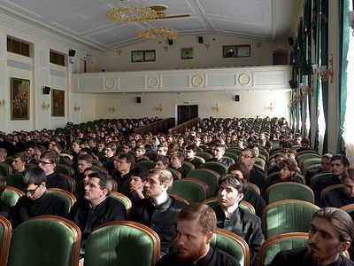 The idea of conferring academic degrees in theology was first put forward in 2007, initiated by the Interreligious Council of Russia. The motive for the given discussion was firstly the necessity of the nation�s spiritual-moral education for a new ge