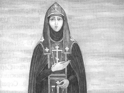 She lived in the monastery only six years and at nineteen years of age on August 21, 1829 she peacefully and quietly departed to the Lord. Having foreseen in the spirit her hour of repose, Venerable Seraphim suddenly began to weep and with great sorr