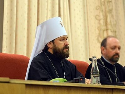 """The epoch which we call 'the second Baptism of Russia' begun in our Church in 1988. The mass baptism of our population started in Russia in the late '80s and early '90s,"" Metropolitan Hilarion said while relating the history of Orthodoxy in Russia t"