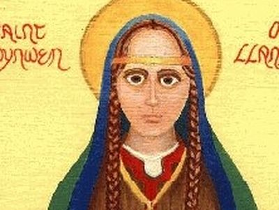 One of the most celebrated female saints of Wales is Venerable Dwynwen (also Donwenna: + c. 460; according to another version: fifth-sixth centuries).