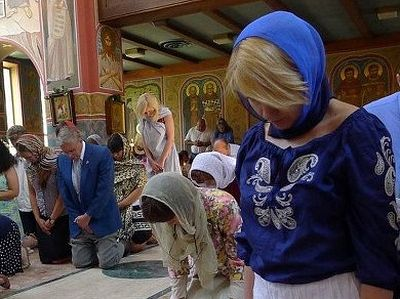 The cycle of prayers assaulting Hades reaches a climax on the day of Pentecost. On the evening of that Sunday, the faithful gather for Vespers. During that service, they kneel for the first time since Pascha. And in that kneeling, the Church teaches