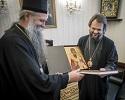 Санкт-Петербургской Духовной Академии подарен образ ее святого выпускника – святителя Мардария (Ускоковича)