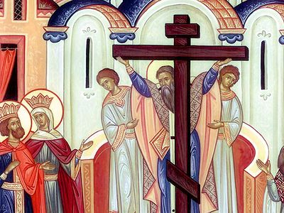 In a homily, given at Holy Trinity Seminary, in Jordanville, NY on September 24, 2017, the Sunday before the Elevation of the Holy Cross, Fr. Peter Alban Heers exhorts the faithful to boast in nothing but the Cross of Christ, wherein is found our Chr