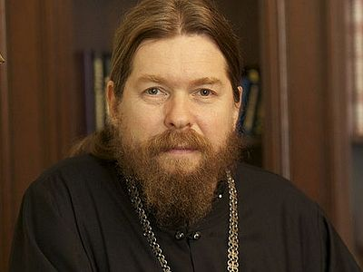 "The journalist asks rather provocative and uninformed questions about the Church's past and present relationship with the Soviet and Russian governments, and Bishop Tikhon provides his views on the complex subject of ""Sergianism"", dissidents, and the"
