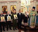 Главному храму ВДВ переданы иконы с частицами мощей святых праведных воинов
