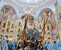 Святейший Патриарх Кирилл совершил чин великого освящения храма-памятника в честь Всех святых в Минске