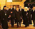 Владимир Путин посетил храм Святого Саввы в Белграде