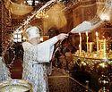 В праздник Крещения Господня Предстоятель Русской Церкви совершил Литургию и чин великого освящения воды в Богоявленском соборе