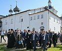 Патриарх Кирилл ознакомился с ходом ремонтно-реставрационных работ в Соловецком монастыре