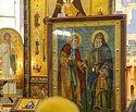 В Петербурге пребывает чудотворный образ преподобного Гавриила (Ургебадзе) и Серафима Саровского