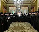 Наместники и настоятельницы ставропигиальных монастырей поздравили Предстоятеля Русской Церкви с 50-летием служения в священном сане