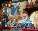 В праздник Сретения Господня Предстоятель Русской Церкви совершил Литургию в Патриаршем Успенском соборе Московского Кремля