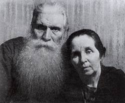 The last photo of his father and mother, Olga Vasilievna