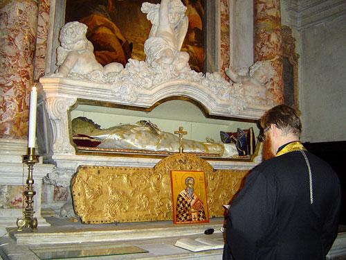 Святые мощи святителя Иоанна Милостивого в Венеции