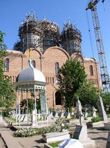 Строящийся собор в Одесском Успенском монастыре