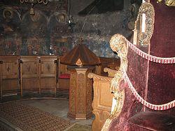 Загрузить увеличенное изображение. 800 x 600 px. Размер файла 171783 b.  Правый клирос в храме великомученика Георгия Победоносца