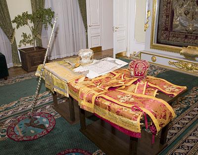 Облачения митрополита Филарета (Вознесенского) в резиденции Патриарха Алексия II