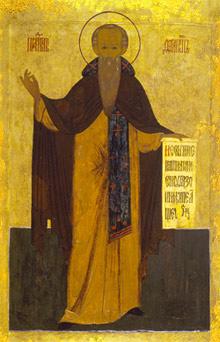 Преподобный Ферапонт Белозерский, Можайский. Икона XVII в.