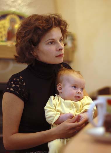 Матушка Виктория с Анечкой