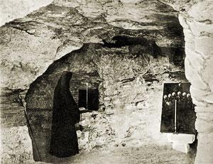 Чтение Псалтири в пещерном храме