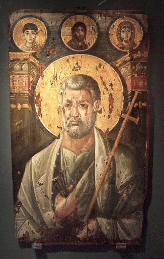 Апостол Петр. Икона конца 6 в., выполненная в технике энкаустики